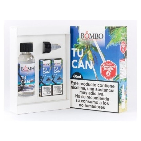 E-LÍQUIDO BOMBO sabor TUCAN 6mg/ml Smart Pack 60ml