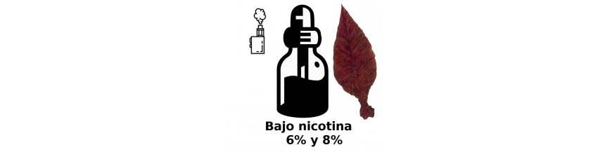 BAJO EN NICOTINA ELIQUIDO VAPEO
