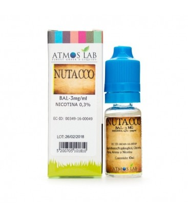E-líquido ATMOS LAB NUTACCO 3mg/ml 10ml
