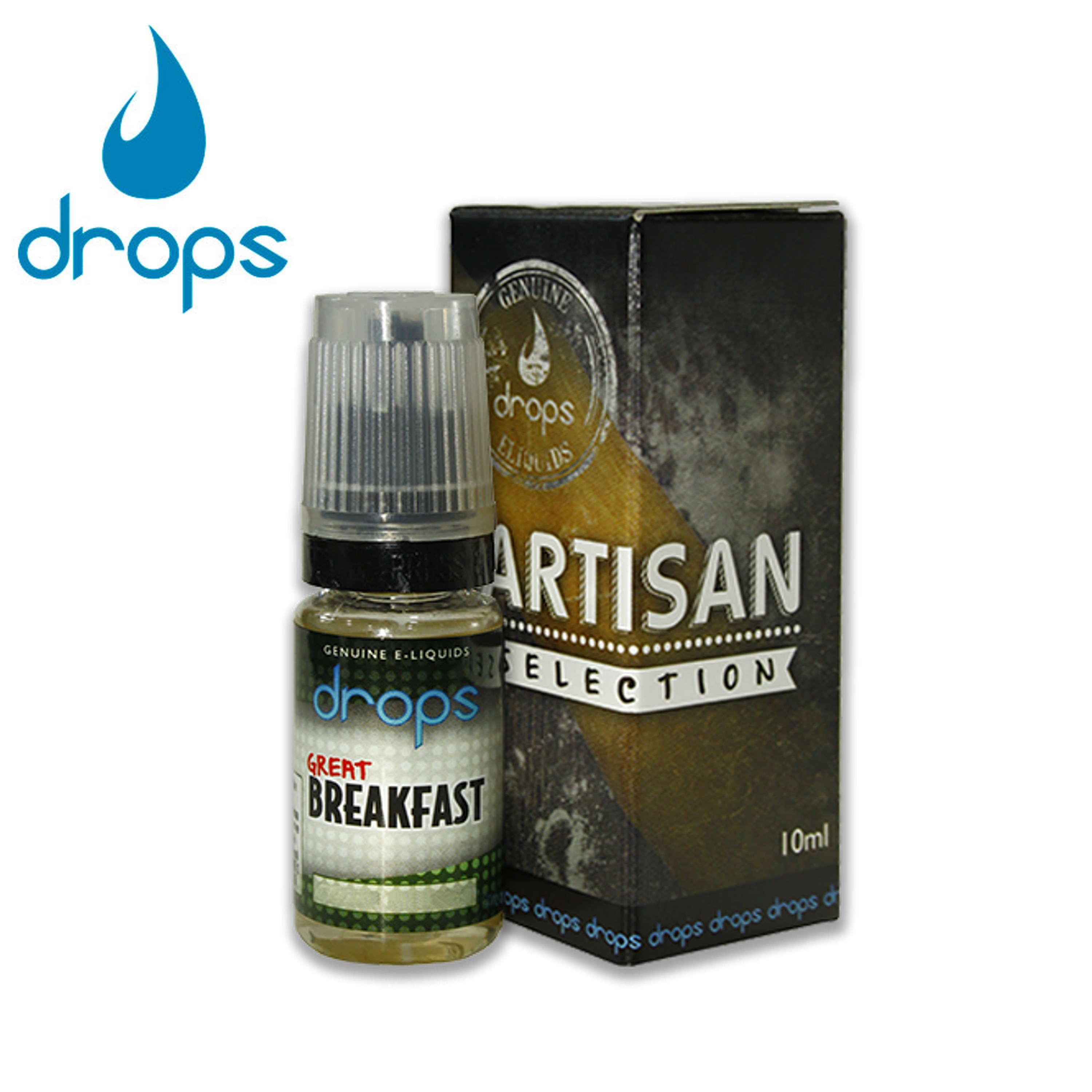 E-líquido DROPS GREAT BREAKFAST Sin Nicotina 10ml