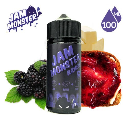 E-líquido Jam Monster Blackberry TPD 100ml Sin Nicotina