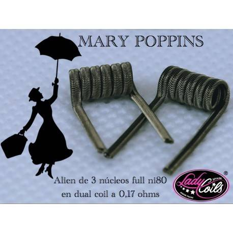 Lady Coils Mary Poppins 0.17 Ohms en Dual Coil