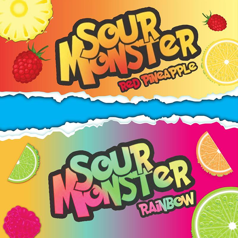 E-líquido Sour Monster Red Pineapple by Classic TPD 50ml 0mg